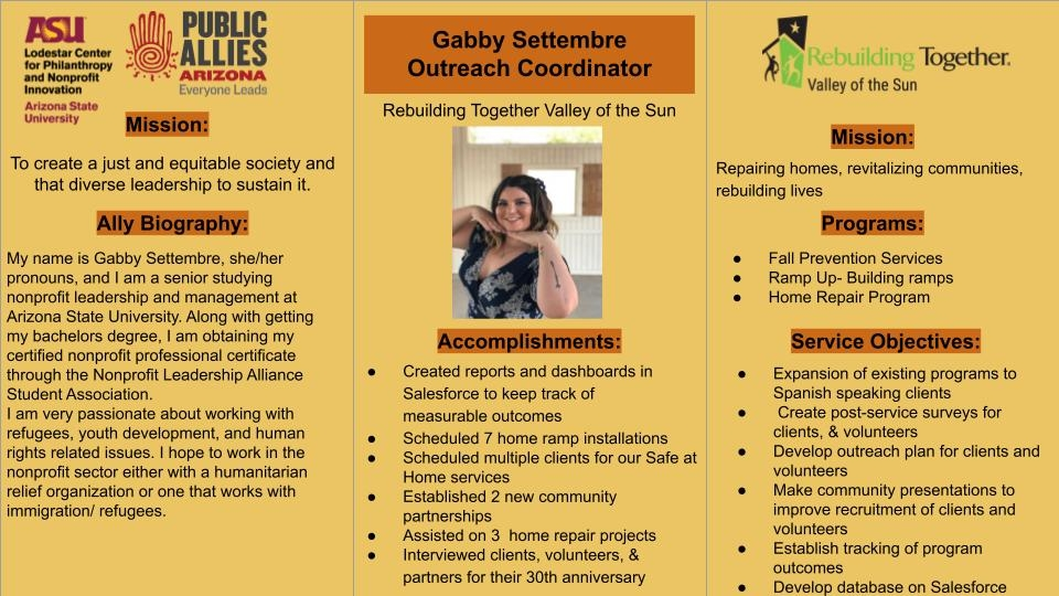 Gabby Settembre poster
