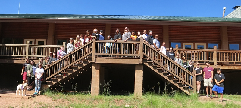 group photo at NLA retreat 2016